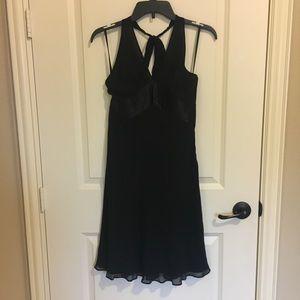 Black Silk Halter Dress